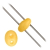 Twin 2-hole Bead 2.5x5mm Yellow Dyed